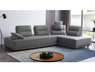 Divani Casa Glendale - Modern Grey Fabric Modular Sectional Sofa