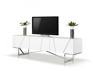 Rostock Modern White TV Stand