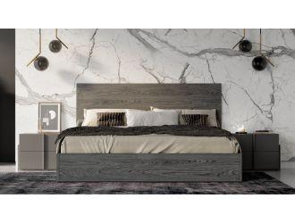 Nova Domus Lucia - Italian Modern Matte Grey / Elm Grey Bed