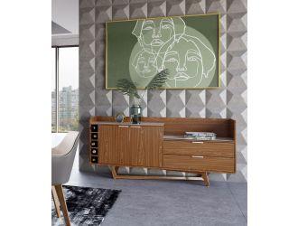 Modrest James - Contemporary Walnut & White Buffet
