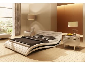 Apollo Contemporary Eco-Leather Bed