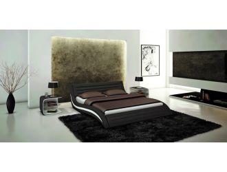 Apollo Contemporary Black Eco-Leather Bed