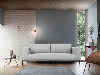 Divani Casa Jada - Modern Light Grey Fabric Sofa