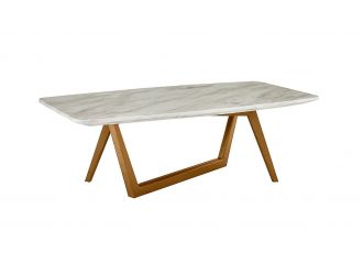Modrest James - Mid Century Walnut + Ceramic Coffee Table