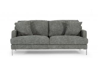 Divani Casa Janina - Modern Dark Grey Fabric Sofa