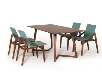 Modrest Jett Mid-Century Walnut Dining Table
