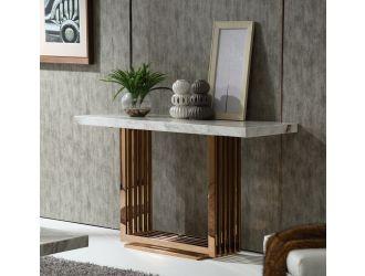 Modrest Kingsley Modern Marble & Rosegold Console Table