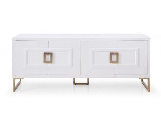 Modrest Leah - Contemporary White High Gloss & Champagne Gold Buffet
