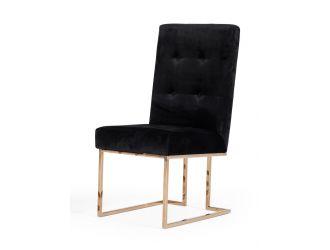 Modrest Legend - Modern Black & Rosegold Dining Chair (Set of 2)