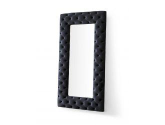 Modrest Legend - Transitional Black Velvet Floor Mirror
