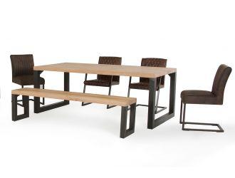 Modrest Reese Modern Aged Oak Dining Table