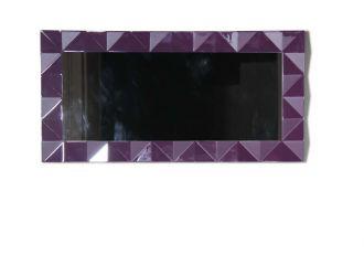 Versus Eva Modern Purple Rectangular Mirror