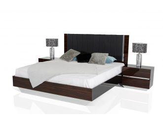 Luxor Modern Ebony Lacquer Italian Bedroom Set