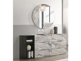 Nova Domus Maranello - Modern Grey Faux Marble Mirror