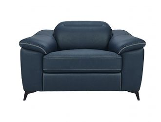 Divani Casa Melstone - Modern Blue Leatherette Electric Recliner Chair