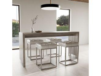 Modrest Silas Modern Grey Elm Bar Table