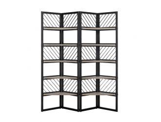Modrest Grimaldi Modern Concrete & Black Metal Shelf