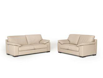 Estro Salotti Morris Modern Taupe Leather Sofa Set