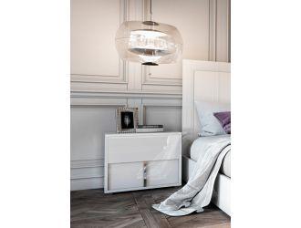 Modrest Nicla Italian Modern White Nightstand
