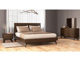 Modrest Novak - Modern Dark Oak Bedroom Set