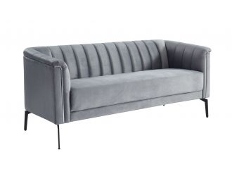 Divani Casa Patton - Modern Grey Fabric Sofa