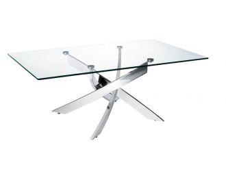 Modrest Pyrite Modern Glass Coffee Table