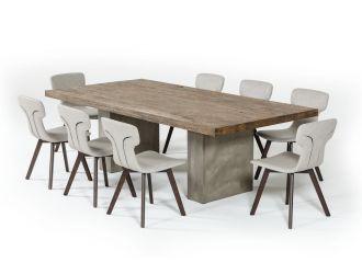 "Modrest Renzo Modern Oak & Concrete 94"" Dining Table"