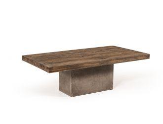 Modrest Renzo Modern Oak & Concrete Coffee Table
