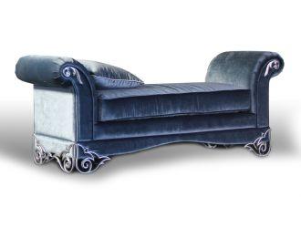 Rita Transitional Velour Fabric Bench