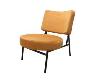 Modrest Sami - Modern Orange Velvet Accent Chair