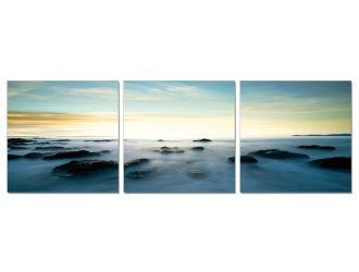 Modrest Seascape 3-Panel Acrylic Painting