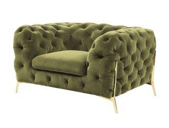 Divani Casa Sheila - Transitional Green Fabric Chair