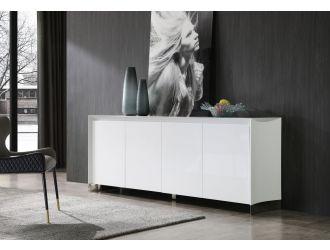 Modrest Siena - Modern White High Gloss Buffet