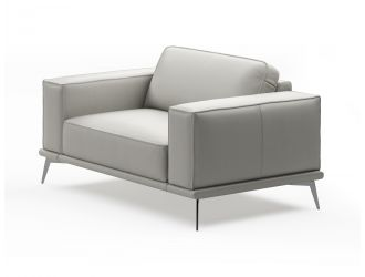 Coronelli Collezioni Soho - Contemporary Light Grey Armchair