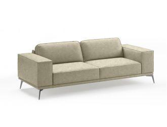 Coronelli Collezioni Soho - Italian Grey Maya Cloud Leather Sofa