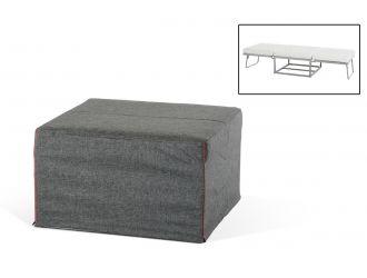 Divani Casa Incognito Modern Grey Fabric Ottoman Sofa Bed