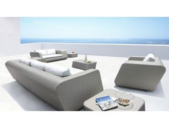 Morocco Modern Grey 6-Piece Patio Set