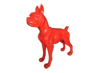Modrest Large Red Dog Sculpture