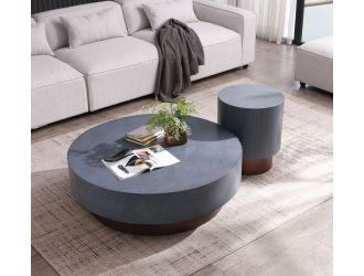 Modrest Zachary - Modern Metal & Antique Copper Coffee Table