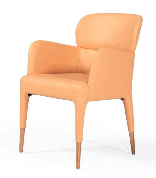 Modrest Ogden - Modern Peach & Rosegold Dining Armchair