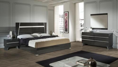 Nova Domus Emporio Italian Modern Grey Bedroom Set