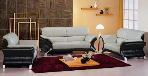 7030 Contemporary micro fiber Living Room Set
