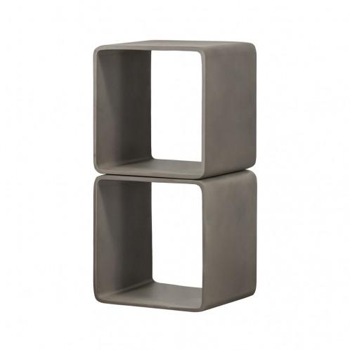 Modrest Pickens - Modern Grey Concrete Cube Shelf