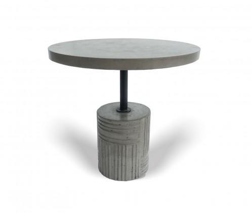Modrest Keota - Modern Grey Concrete End Table