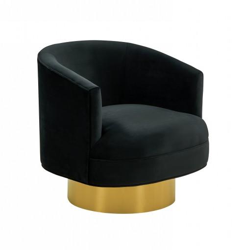 Divani Casa Basalt - Modern Black Fabric Accent Chair