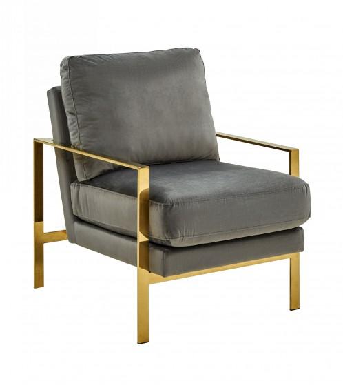Divani Casa Bayside - Modern Grey Fabric Accent Chair