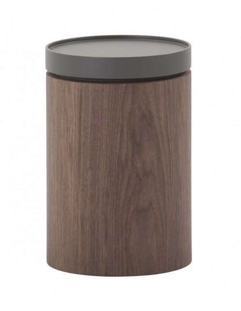 Modrest Bascom- Modern Grey and Walnut End Table