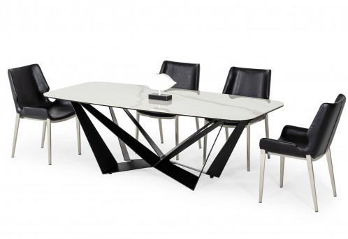 Modrest Ellis - Modern White Ceramic Dining Table