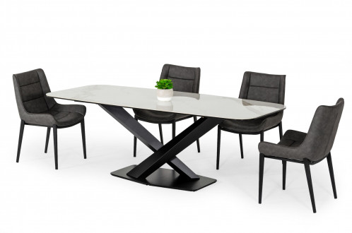 Modrest Espano - Modern White Ceramic Dining Table