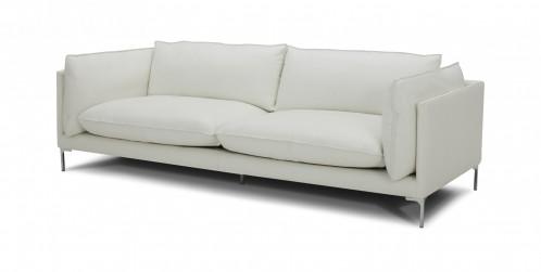 Divani Casa Harvest - Modern White Full Leather Sofa
